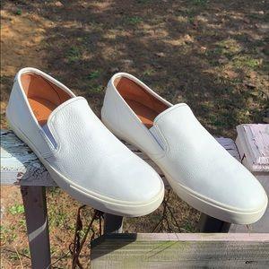 Men's Frye leather low top slip on shoes sz 12